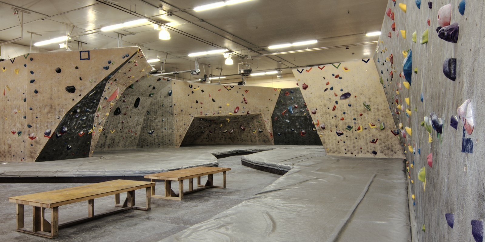 Climbing facility at Ascension Rock Club